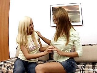 Natural tits Alla and Jodi play on camera with dildo on Sapphic Erotica