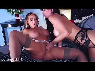 Busty Babes Nikki Jessica Scissor in Stockings!