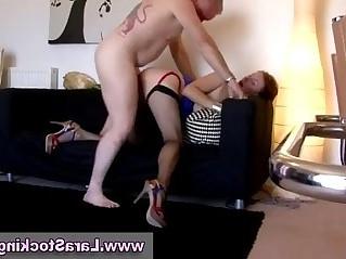 Mature stocking wearing slut lesbian