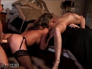 amazing lesbian threesome strap