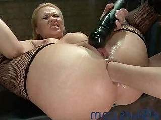 Big breasts blonde hottie anally fisted