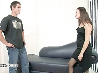 Karmella Sutra takes the cum on her ass