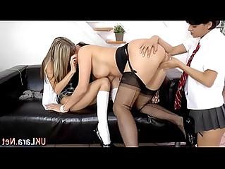 Stockings brit licks lez
